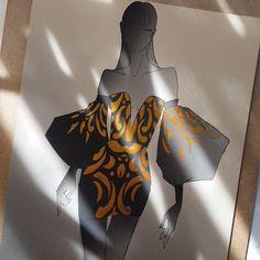 Vross Design Fashion Designer and Haute Couture Illustrator. Fashion Illustration Techniques, Fashion Illustration Tutorial, Fashion Illustration Collage, Fashion Drawing Tutorial, Fashion Figure Drawing, Fashion Drawing Dresses, Illustration Mode, Fashion Illustration Dresses, Fashion Design Portfolio