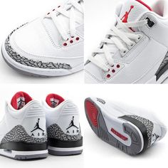 Air Jordan Retro 3's - White Cements