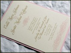 Elegant Romance Vintage Wedding Invitation Set by RunkPockDesigns, $2.00  @Joyful Thrifter