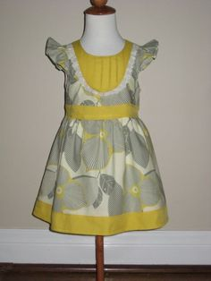 Another dress with pintucks for a toddler