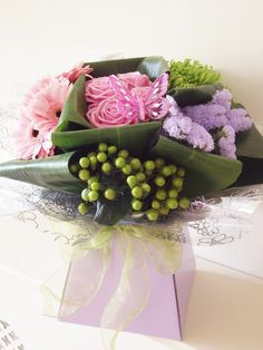 Modern grouped hand tied flower arrangement from Cottons and Blossoms -  cottonsandblossoms.weebly.com