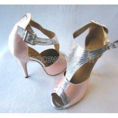 http://www.ttdancewear.com/latin-salsa-shoes/Free-Shipping-Wholesale-Pink-Satin-Silver-Snakeskin-Print-T-Bar-Ballroom-Latin-Salsa-Tango-Shoes