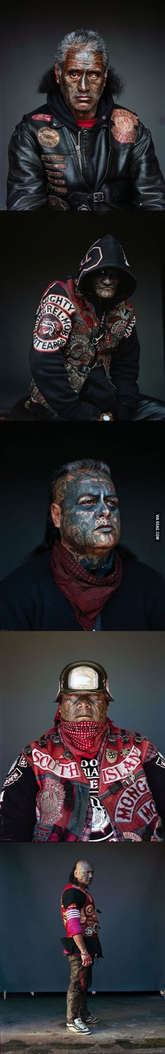 Amazing photos of members of the Mighty Mongrelmob, New Zealand's largest gang