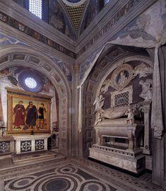 Kaple portugalského kardinála v San Miniato al Monte (1460-1473) Antonio Rossellino