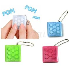 Buy PuchiPuchi Endless Pop Pop Infinite Bubble Wrap Relieve Stress Key Chain Squeeze at Wish - Shopping Made Fun Bubble Wrap Keychain, Figet Toys, Weird Gifts, Cool Gifts, Pop Bubble, Endless, Kids Makeup, Birthday Wishlist, Birthday List
