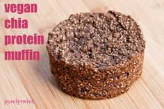 Chia Muffins   1 Tbs chia seeds, ground  1 ½ cups whole-grain flour (or whole-wheat)  2 tsp cinnamon  ½ tsp nutmeg  2 tsp baking soda  ½ tsp salt (or salt and pepper to taste)  16-oz. can organic pumpkin (make sure there's only pumpkin listed in the ingredients)  ½ cup agave nectar  1 tsp vanilla  ½ cup chopped walnuts  2 egg whites (Vegans can omit)  ¼ cup high-quality canola.…