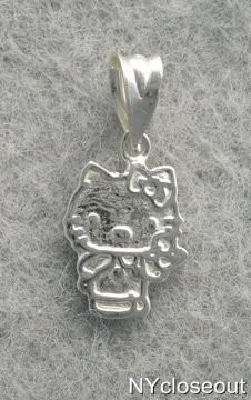 Cute Hello Kitty Silver Pendant New Free Shipping