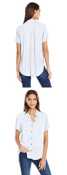 Lucky Brand Women's Safari Shirt, Lucky White, Small