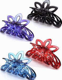 Prettyou 3.5' Plastic Large Clip Hair Claws for Women, Pack of Four ** You can get more details by clicking on the image.