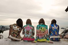 TheyAllHateUs | Floral Printed Adidas Matching Track Suits