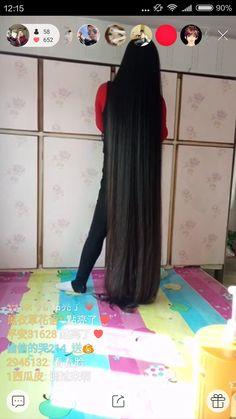 Zou Yu has 2 meters plus long hair - [ChinaLongHair.com]