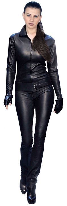 Femme Fatale Leather Jumpsuit For Women