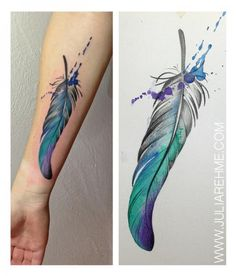 Arm Feather Tattoo