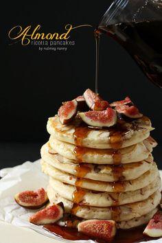 Almond Ricotta Pancakes.