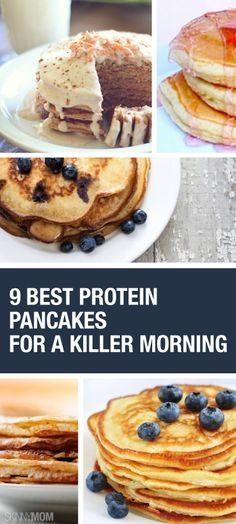 These protein pancakes are delicious and will fill you up and keep you going all morning! #weightlossrecipes