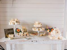 Wedding Dessert Table - An Intimate Wedding Full of Rustic Vintage Elegance Metallic Wedding Cakes, Painted Wedding Cake, Eclectic Wedding, Rustic Wedding, Buttercream Wedding Cake, Wedding Cake Designs, Wedding Ideas, Geometric Wedding, Wedding Desserts