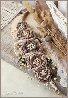 """Купить Диадема """"Бохо невеста"""" - диадема, повязка, свадебное украшение, украшение в волосы, украшение в прическу"""