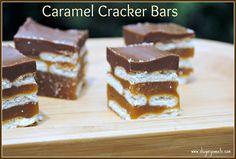 Caramel Cracker Bars - Shugary Sweets