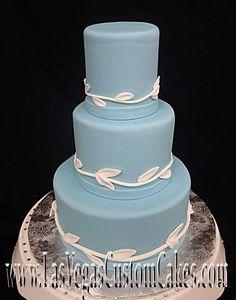 Blue With White Vines Mini Cake #245