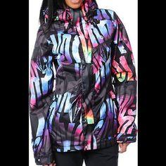 "Selling this ""Zumies Volcom Tipsy Tonic Black Snowboard Jacket"" in my Poshmark closet! My username is: margaritagiron. #shopmycloset #poshmark #fashion #shopping #style #forsale #Volcom #Outerwear"