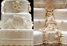 Great article on Prince William & Kate's wedding cakes!! Probably a LITTLE above my skill set!! LOL!!!!!
