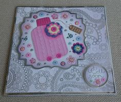 Handmade 6 x 6 Square Greeting Card  Get Well Soon by BavsCrafts