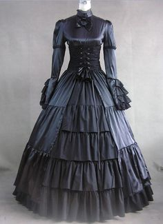 Classic Victorian Mourning gown