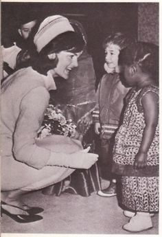 I love how she respects kids enough to get at their eye level. The Ever- So - Flawless Mrs. Jacqueline Kennedy- Onassis .