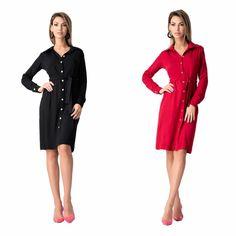Roșu și negru ☺ www. Spring Summer, Dresses For Work, Instagram, Fashion, Moda, Fashion Styles, Fashion Illustrations