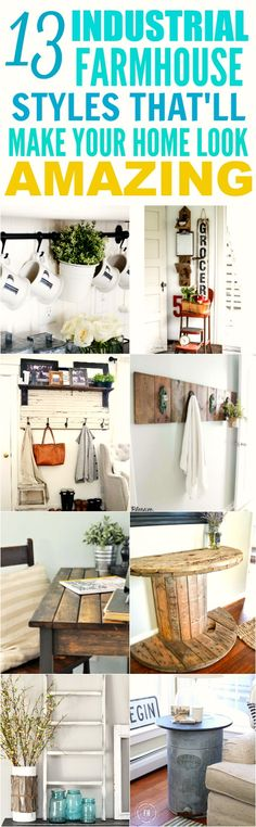 These 13 farmhouse styles on a budget are THE BEST! I\'m so glad I found these AWESOME DIY projects! Now I have some cute ideas on how to decorate my home! Definitely pinning for later!