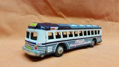 Marx Tin-Buses Airport Transportation Service Bus Tin Litho Friction Toy 1950's #Marx