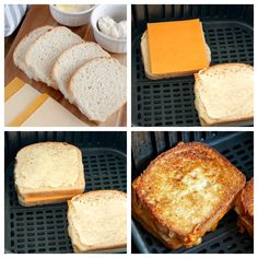 Air Fryer Grilled Cheese Air Fryer Recipes Ribs, Air Fryer Recipes Breakfast, Air Frier Recipes, Air Fryer Dinner Recipes, Air Fryer Cooking Times, Homemade Biscuits Recipe, Air Fryer French Fries, Making Grilled Cheese, Cheese Sandwich Recipes