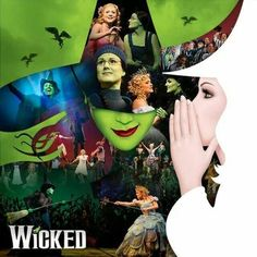A popular musical, probably one of the most entertaining. I've seen it on both Broadway and in London's West End and have souvenirs from both. I do love this musical and listen to the soundtrack all the time in the car. Broadway Wicked, Musical Theatre Broadway, Broadway Plays, Music Theater, Wizard Of Oz Musical, Maleficent, The Witches Of Oz, Theatre Nerds, Arts Theatre