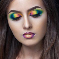 Neon Multicolor Makeup