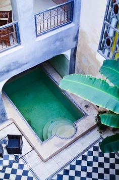 The garden pool of my dreams. Moroccan patio - Riad Alamir in Marrakech . Exterior Design, Interior And Exterior, Outdoor Spaces, Outdoor Living, Beautiful Homes, Beautiful Places, Riad Marrakech, Gazebos, The Design Files