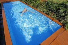Dit zwembad is gemaakt van een vuilcontainer! - Roomed