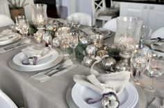 Elegant Homes Decorated For Christmas | elegant silver decorations | HOLIDAY HOME