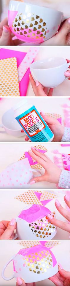 Dotty + Hearty Cup | 35 + DIY Christmas Gifts for Teen Girls | Easy Summer Crafts for Teens to Make