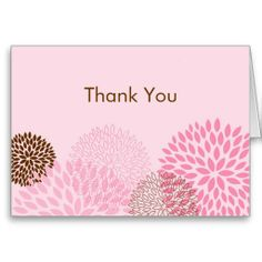 Modern Spring Flower Thank You Note Cards