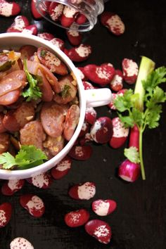 Thai Style Stir Fried Red Beans