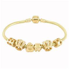 Love Pandora bracelets.  All gold, yes, please!