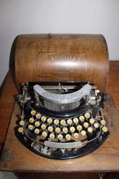 RARE ANCIENNE MACHINE A ECRIRE TYPO VISIBLE MANUFACTURE SAINT ETIENNE TYPEWRITER | eBay