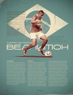 Top-7 Football Forwards by Yulia Semenova, via #Behance #Poster #Design
