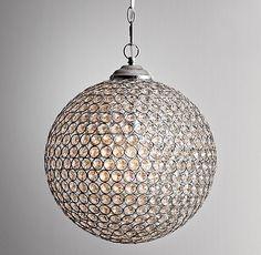 """14"""" Claridge Crystal Pendant $201. 14½"""" diam., 18""""H"""