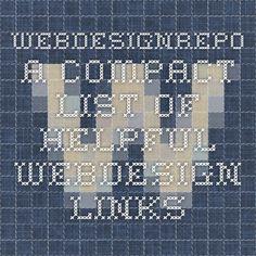 webdesignrepo - a compact list of helpful webdesign links
