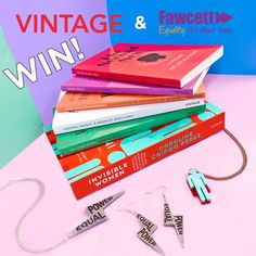 💖 WIN a feminist book bundle with Vintage Books and Tatty Devine X Fawcett Society jewellery! Feminist Books, Tatty Devine, Vintage Books, Ladies Day, Vintage Ladies, Competition, Jewellery, Women, Antique Books