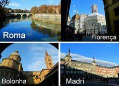 Roteiro na Itália e Espanha: Roma, Florença, Bolonha e Madri