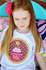 Cupcake Birthday Kids Shirt Personalized T-shirt for Girls | FUNKY MONKEY THREADS #FMT #funkymonkeythreads #cupcakeshirt