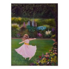 """""""In My Fathers Garden"""" fine art poster - flowers floral flower design unique style"""