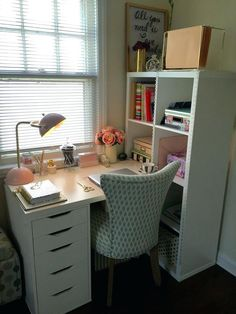 32 Ikea Home Office Design Ideas. If you begin a house business you will probably need a workplace. You'd want to make certain that your home office if you've got one looks fantastic, . Ikea Home Office, Home Office Space, Office Decor, Office Ideas, Desk Ideas, Ikea Office Hack, Small Office, Apartment Office, Desk Office